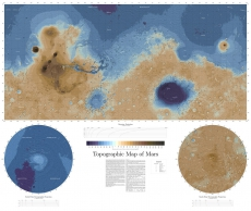 Новая топографическая карта Марса