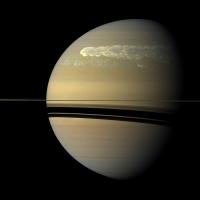 Супершторм на Сатурне (видео)
