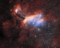 Астрономы получили высококачественный снимок рождения звезд в туманности Креветки.