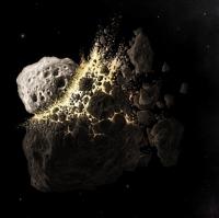 Огромный астероид разлетелся на осколки без видимых причин