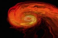 Слияние двух нейтронных звезд и формирование черной дыры (Видео)