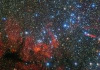 Звездное скопление в кильватере Киля