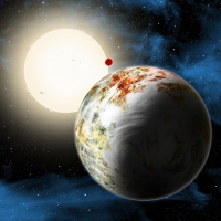 Астрономы открыли массивный скалистый мир