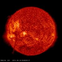 Гигантское солнечное извержение (ВИДЕО)