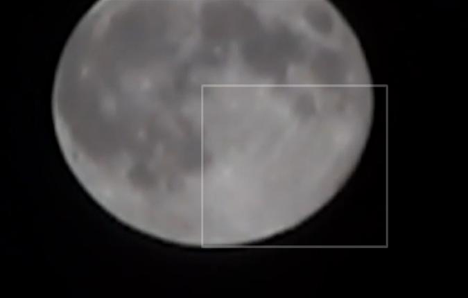 Во время Суперлуния удалось запечатлеть НЛО. (Видео)