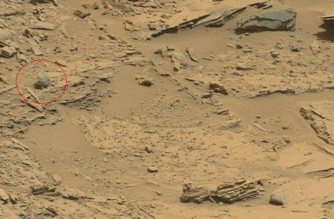 Камень на поверхности Марса оказался похож на череп