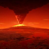 Древние вулканы на Марсе