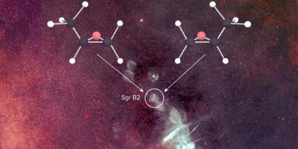 Хиральная молекула в межзвездном пространстве