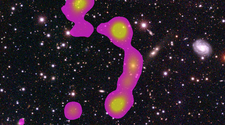 Волонтеры обнаружили огромное скопление галактик