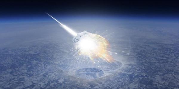 НЛО уничтожает астероид