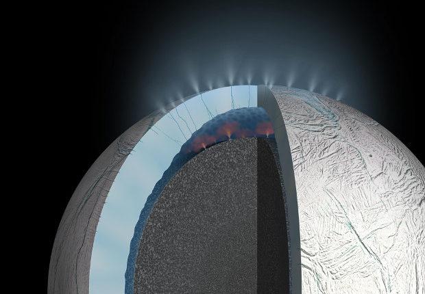 Условия в подледном океане Энцелада приемлемы для существования там жизни