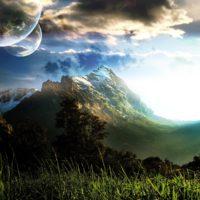 Пейзаж на планете земного типа