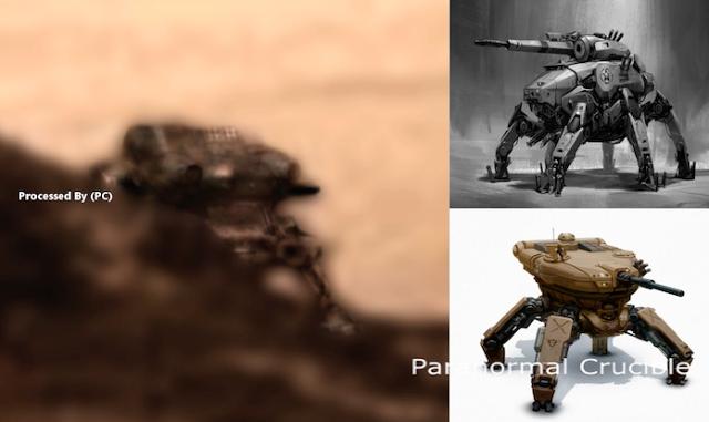 На фотографии масохода Curiosity обнаружен робот