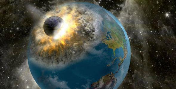 Астероид врезается в Землю