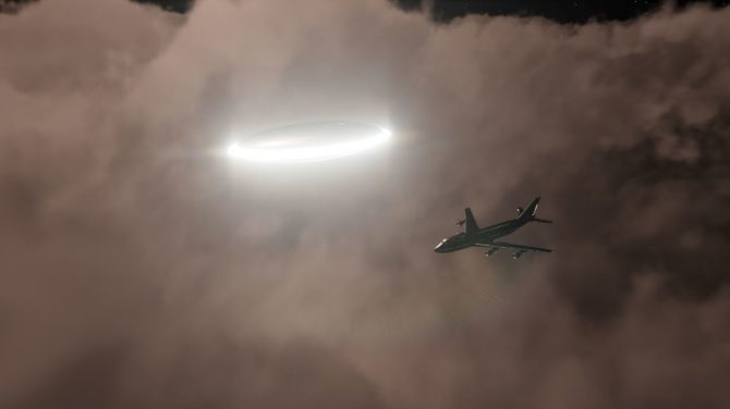 Четыре НЛО преследовали американский военно-транспортный самолет
