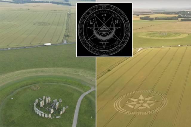 На поле возле Стоунхенджа появился неизвестный символ