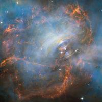 Нейтронная звезда в крабовидной туманности