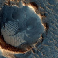 Место посадки НЛО на Марсе