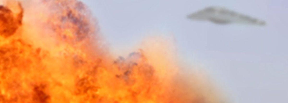 Видео: США применяют НЛО для бомбардировок в Сирии