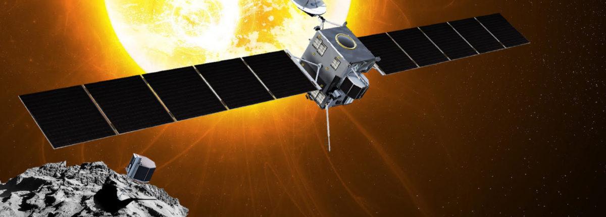 Визуализация столкновения космического корабля Rosetta с кометой