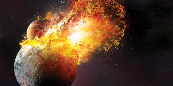 Столкновение Земли с Тейей