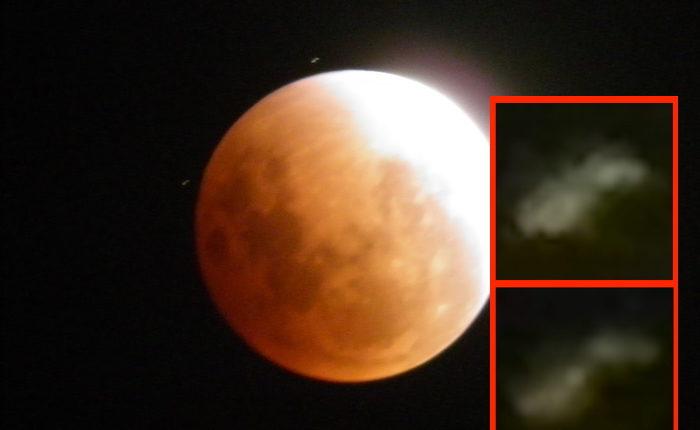 Астроном-любитель сфотографировал неопознанные объекты возле Луны