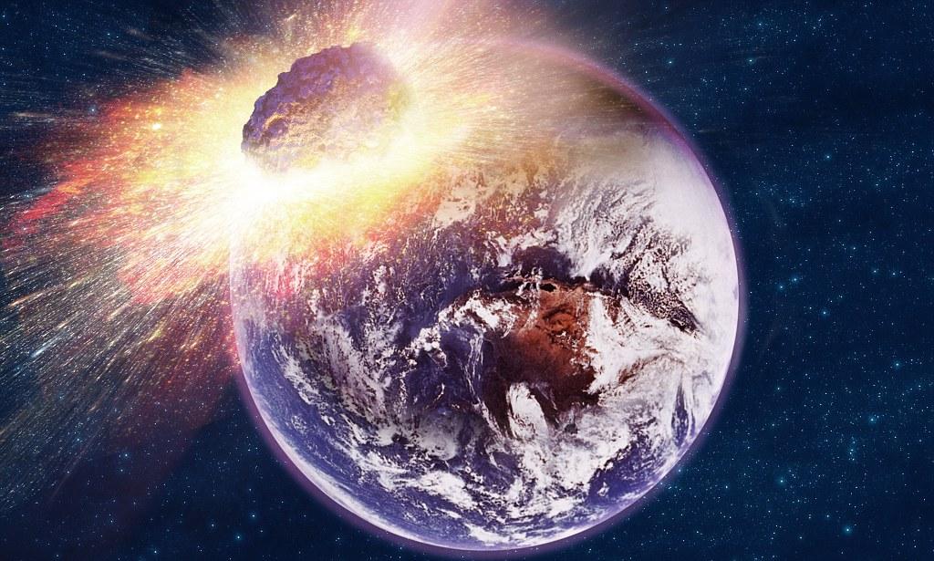 картинка астероид врезается в землю коммунальной