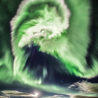 Северное сияние над Исландией