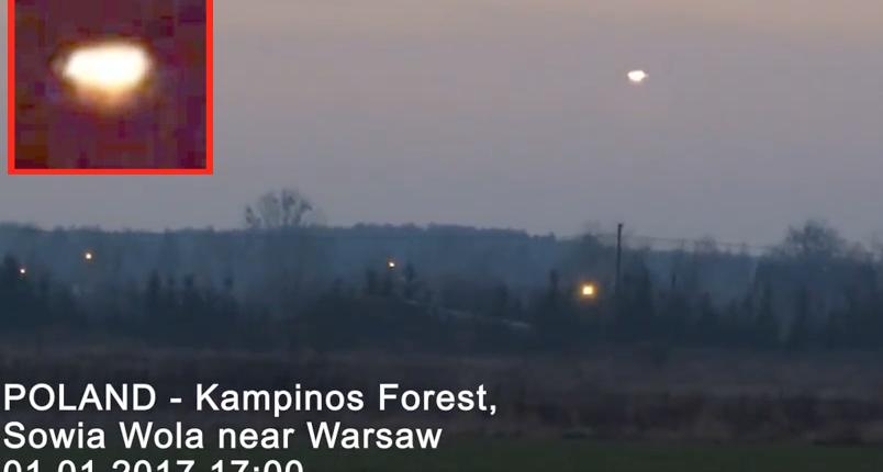 Видео: очевидец запечатлел НЛО неподалеку от Варшавы