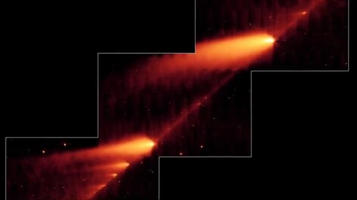 Астрономы зафиксировали распад пролетающей мимо Земли кометы