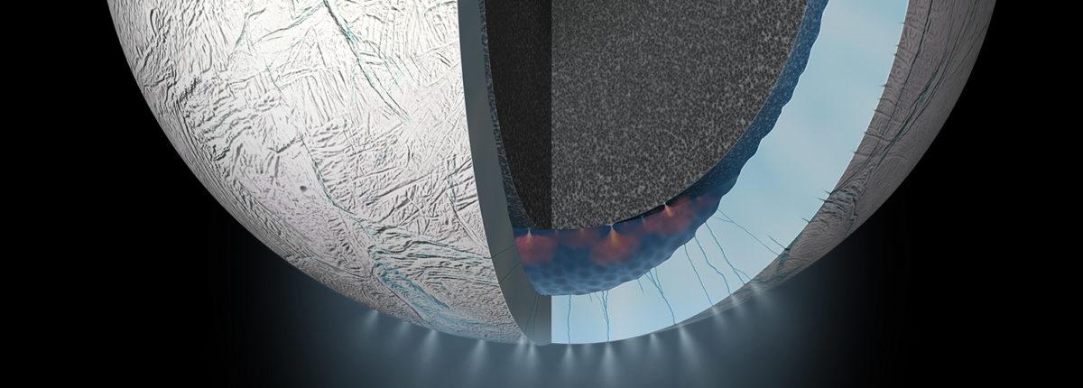 Под южным полюсом Энцелада обнаружен аномальный источник тепла
