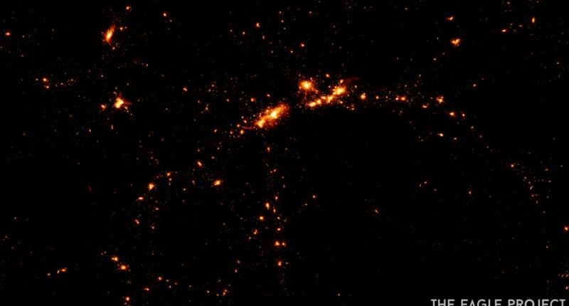 Наблюдение гало молодых галактик позволило подтвердить теоретические исследования