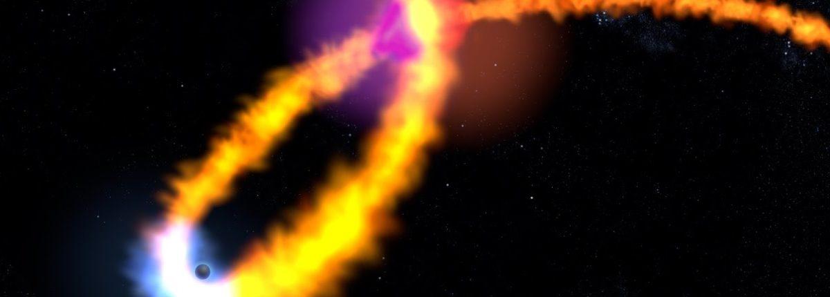 Ученые представили анимацию падения звезды в черную дыру