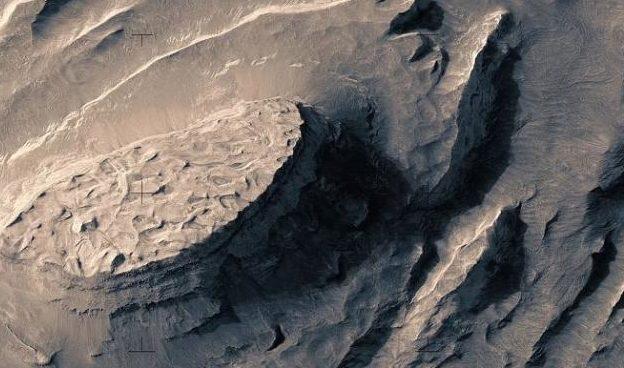 Полет над Марсом в новом видео