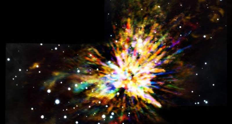 Столкновение протозвезд привело к созданию области зарождения новых звезд