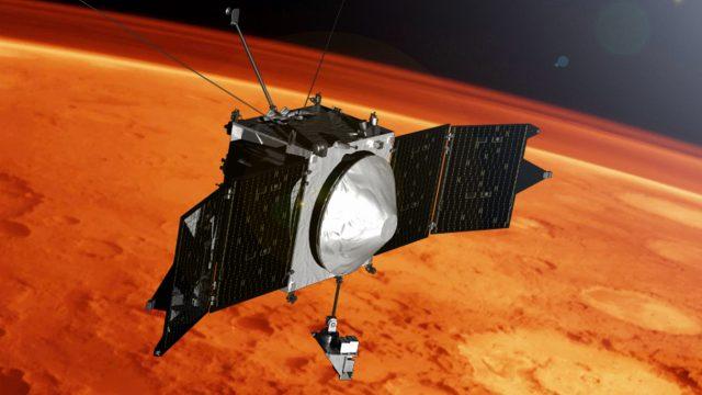 Ученые обнаружили, что Марсианская атмосфера полна металла