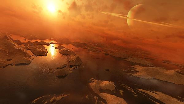 Ученые обнаружили органические молекулы в атмосфере Титана