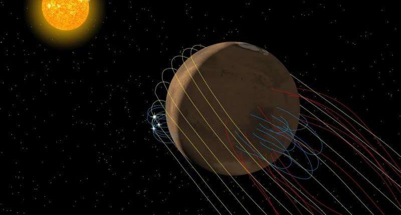 Миссия MAVEN обнаруживает, что у Марса есть скрученный хвост