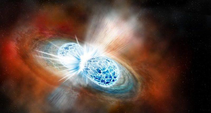 Столкновение нейтронных звезд озарило небо