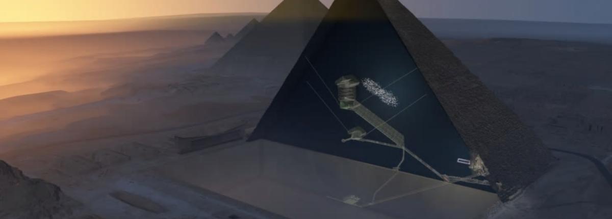 Космические лучи показали таинственную пустоту в Великой Египетской пирамиде