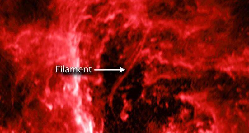 Космическая нить зондирует гигантскую черную дыру в нашей галактике