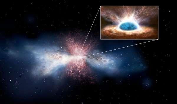Новорожденные или выжившие? Молекулы, обнаружены во враждебных ветрах черной дыры