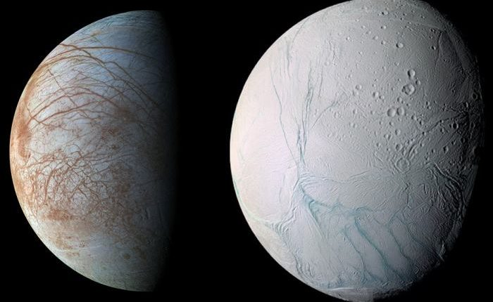 Может ли существовать инопланетная жизнь прямо под поверхностью ледяных миров, Энцелада и Европы?