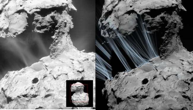 Космический корабль Rosetta разгадал тайну пылевых извержений кометы 67P