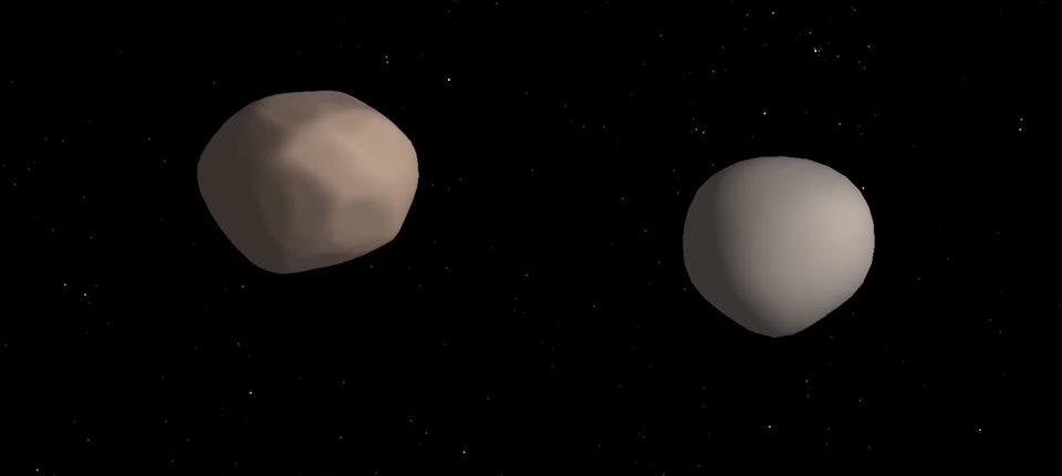 Астрономы обнаружили ещё один редкий двойной астероид