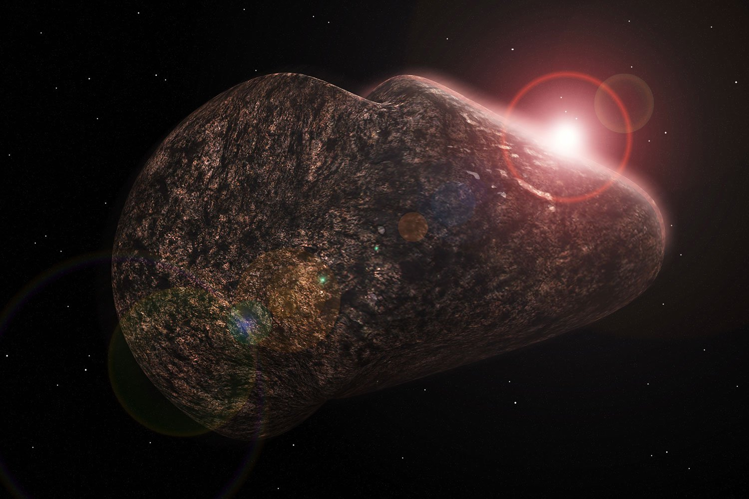 blue asteroid astronomers get closeup look at bizarre - HD 1500×1000