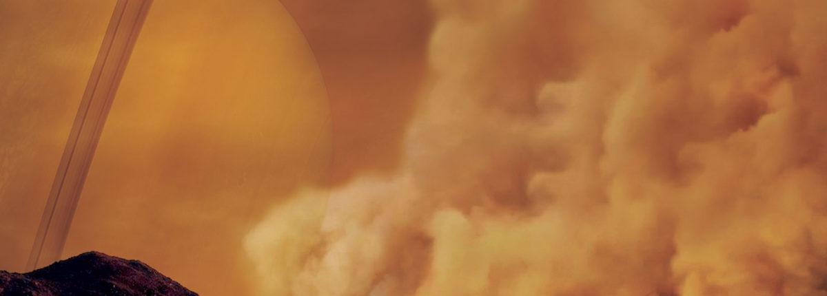 NASA представило первые снимки пылевой бури на Титане