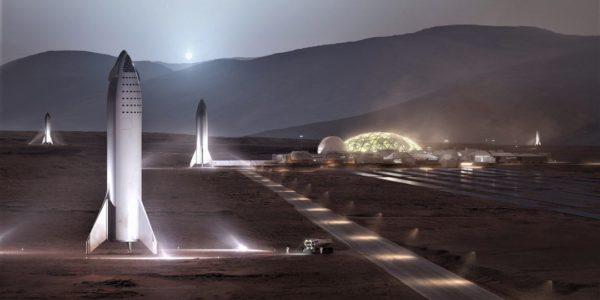 Илон Маск показал, как будет выглядеть база на Марсе