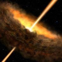 NASA показало как черная дыра поглощает материал