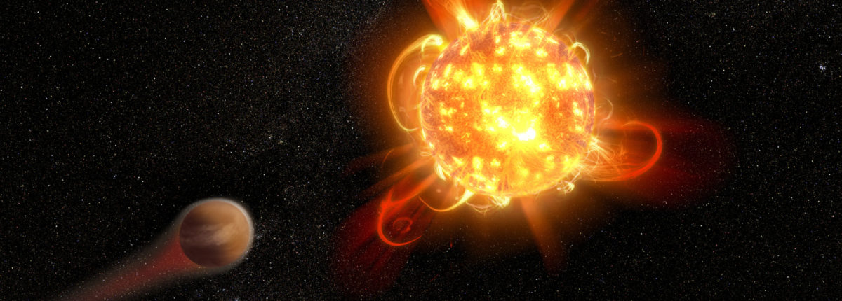 «Хаббл» показал супер-вспышки уничтожающие атмосферы планет